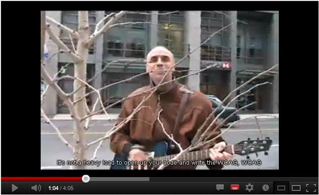 Das Video des WCAG-Songs hat Untertitel